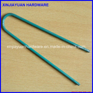 Green Coated U Type Nail Turf Nail Factory Price pictures & photos