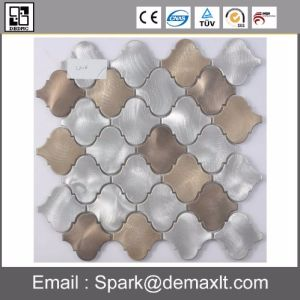 Good Quality Square Metal Mix Crystal Glass Mosaic Tile pictures & photos