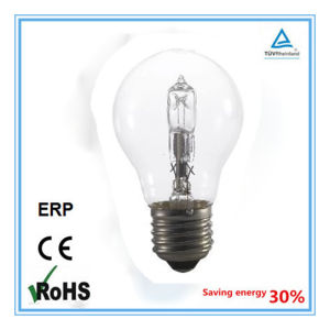 A55 120/220V E27 Clear 70W Eco Halogen Lamp pictures & photos