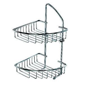 Triangle Double Tier Brass Bathroom Corner Shelf (ZW-581) pictures & photos