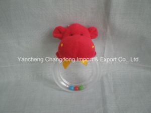 Plush Hippo Toys with Ring for Babys pictures & photos