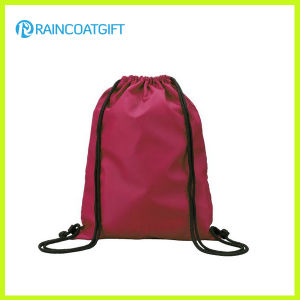 Promotional Reinforced Corners Budget Custom Polyester Drawstring Bag pictures & photos