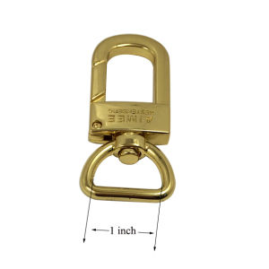 Fashion Handbag Accessories Gold Plated Dog Hook Swivel Snap Hook (1 inch) pictures & photos