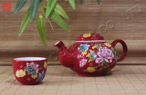 Tableware Ceramic /Dinnerware Porcelain Teapot Dinner Set (TP-65M)