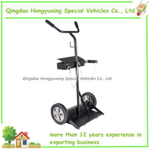 Large Twin Cylinder Welding Cart with Solid Wheel (HT1308)