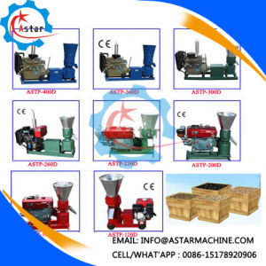 Small Diesel Enginee Driven Flat Die Animal Feed Making Machine pictures & photos