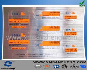Glossy Silver Foil Self Adhesive Water Resistant Shiny Sequential Numbering Stickers pictures & photos