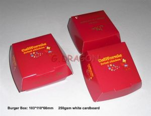 13cmx4cm Set of 6 Prefolded Boxes Burger Boxes (BB003) pictures & photos