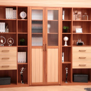 Oppein Customized Modern Practical Wood Grain Bookshelf (SG11304) pictures & photos