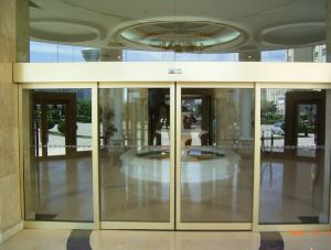 China automatic sliding glass door mechanism with track for Sliding door main entrance