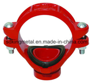 Ductile Iron 300psi NPT Threaded Grooved Mechanical Tee pictures & photos