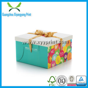 Cute Paper Cake Box with Handle with Logo Printing pictures & photos