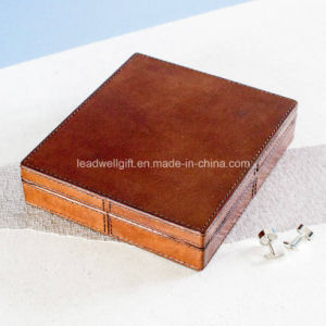 Vintage Leather Jewelry Box Storage Case Gift Box pictures & photos
