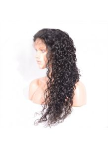Natural Black Loose Curly Virgin Human Hair Full Lace Wigs pictures & photos