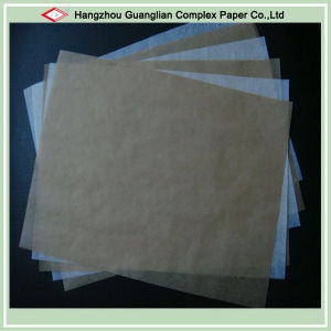 Unbleached White and Brown Greaseproof Paper pictures & photos