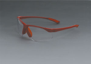 Safety Glasses (JK12012-Red+Clear) pictures & photos