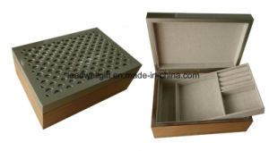 High Quality Wood Pattern Double-Deck Jewelry Case Gift Box pictures & photos
