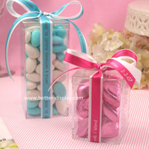 Small Wedding Gift Square Clear Acrylic Candy Box (BTR-K4028) pictures & photos