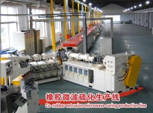 Rubber Extrusion Microwave Vulcanization Production Line pictures & photos