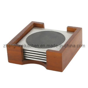 5 PCS Cup Coaster in Wooden Case (600029) pictures & photos