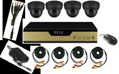 Hot Sale CCTV DVR Kit with 4CH DVR and 4 Dome Cameras pictures & photos