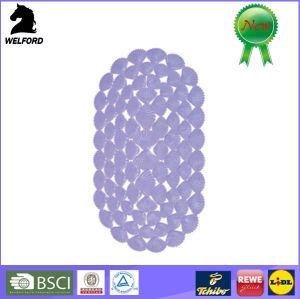 Shell Design Anti Slip Oval PVC Bath Mat pictures & photos