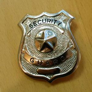 Metal Security Guard Badge for Uniform with Back Pin