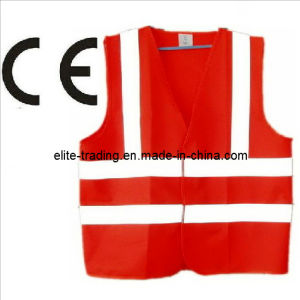 Red High Visibility Reflective Vest with CE Certified