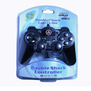 USB Double Shock Game Joystick for PC