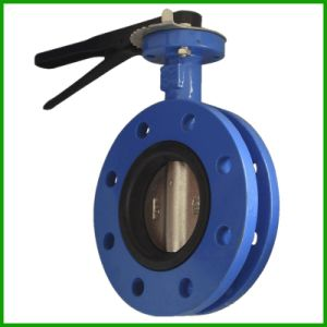 Lever Butterfly Valve-Rubber Seal Flanged Butterfly Valve pictures & photos