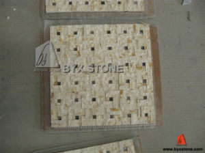 Egypt Beige Marble Stone Mosaic for Wall Decoration pictures & photos