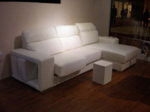 Home Sofa with L Shape White Color pictures & photos