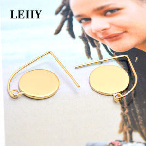 Fashion Elegant Gold-Color Single Circle Alloy Jewelry Drop Earrings pictures & photos