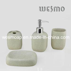Sandstone Finish Polyresin Bath Set (WBP0281A) pictures & photos