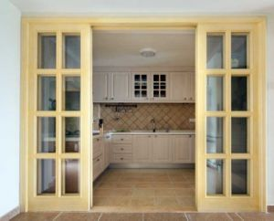 Glass Wooden Kitchen Sliding Door pictures & photos