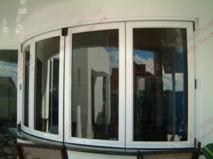 Powder Coating Aluminum Curved Bi-Folding Window (BHA-FW16) pictures & photos