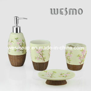 Floral Polyresin Bath Accessory (WBP0279A) pictures & photos