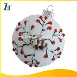 Hanging Christmas Ornaments Flat Glass Ball pictures & photos