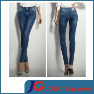 Women′s Sexy Waist Denim Trousers Slim Curve Skinny Jeans (JC1258) pictures & photos