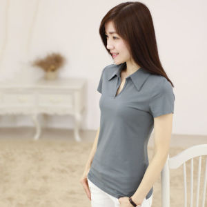 2016 Embroidery Printing Women Clothes Women Polo T-Shirt pictures & photos