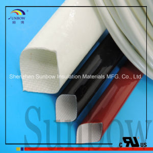 4.0kv Silicone Rubber H Class Silicone Fiber Glass Sleeves pictures & photos