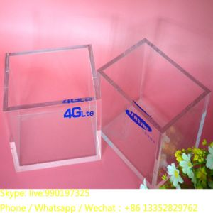 Custom Plastic Clear Plexiglass Display Cube Wholesale pictures & photos