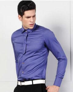 Men′s Purple Slim Fit Cotton Shirt pictures & photos