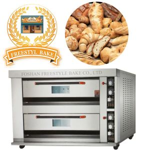Full Stainless Steel Bakery Deck Oven in Food Machinery with 2 Decks 4 Trays (ALB-04Q) pictures & photos