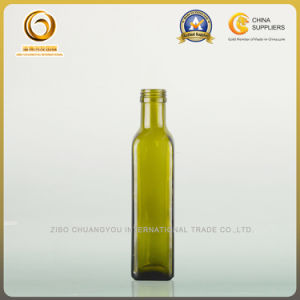Empty Round Dark Green Olive Oil Glass Bottle Cooking Oil Glass Bottle (467) pictures & photos