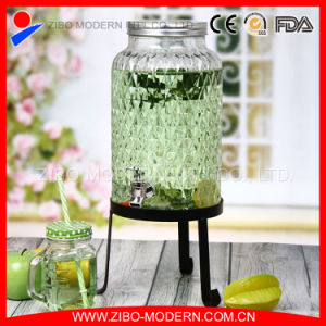 3.8 L 1 Gallon Customized Glass Juice Dispenser with Tap pictures & photos