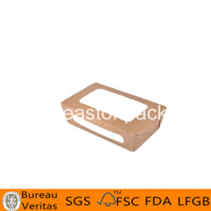 Disposable Take Away Paper Cardboard Small Salad Box with Window pictures & photos
