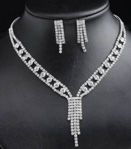 Bridal Necklace With Rhinestone (BL-ST110090)