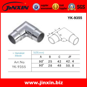 Pipe Connector - Stainless Steel Round Tube 90 Degree Elbow (YK-9355)