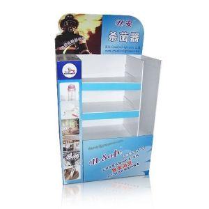 Cardboard Floor Standing Display Shelf Rack, Pop Corrugated Display pictures & photos